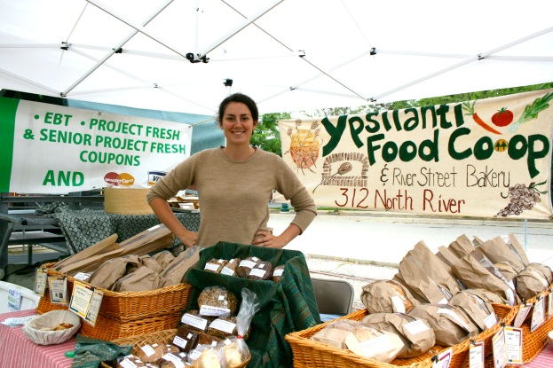 Ypsilanti Food Co-op booth at the Farmers' Market